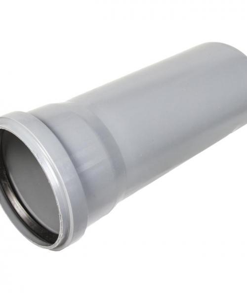 Труба с раструбом ПП d110 х L 250 мм Серый