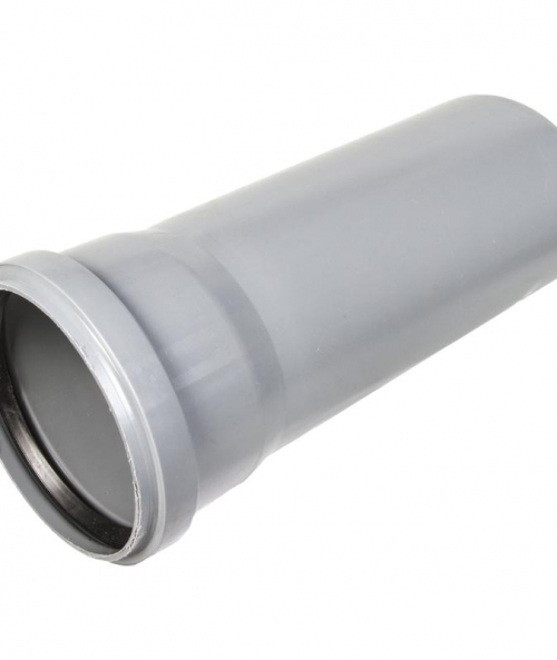 Труба с раструбом ПП d110 х L 2000мм Серый