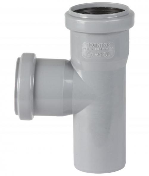 Тройник d 40 мм 90 градусов Серый внутренняя канализация