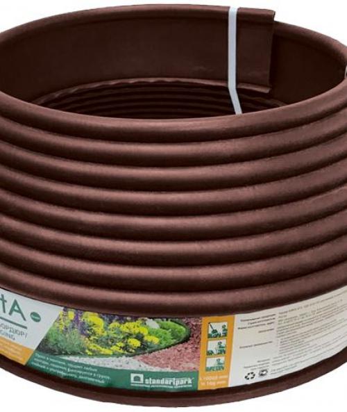 Бордюр Канта PRO (модернизированный Кантри) пластиковый высота 15см коричневый 10м