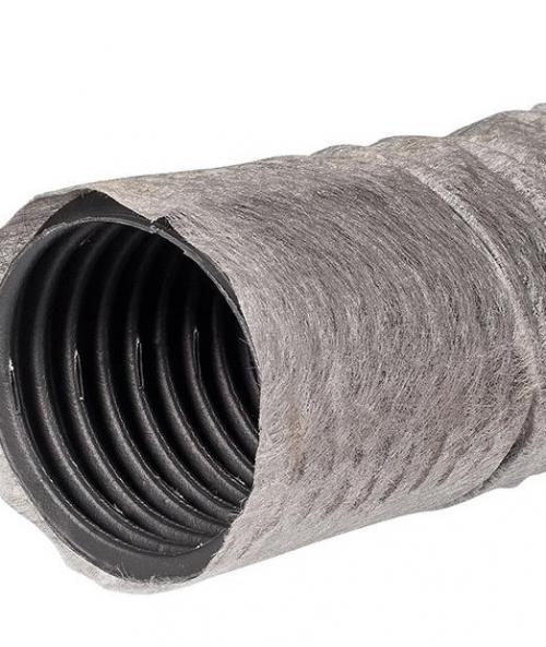 Дренажная труба однослойная гофрированная с геотканью перфорированная 110 мм х 50 м