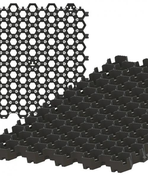 Решетка газонная пластиковая черная