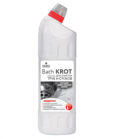 Bath Krot. Средство для устранения засоров в трубах, концентрат 1л