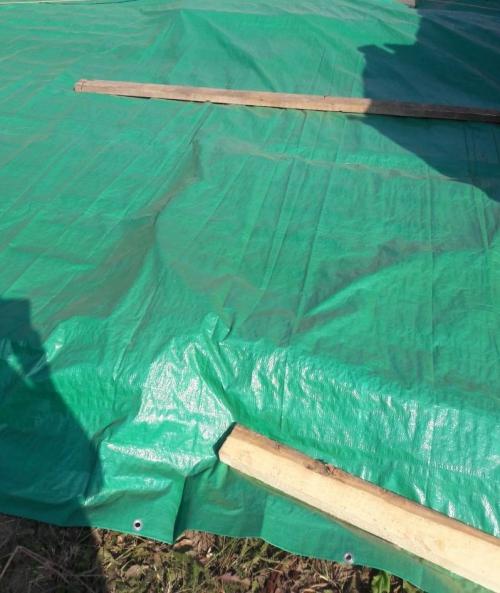 Тент 2х50м 120 г/м2 зеленые в рулоне