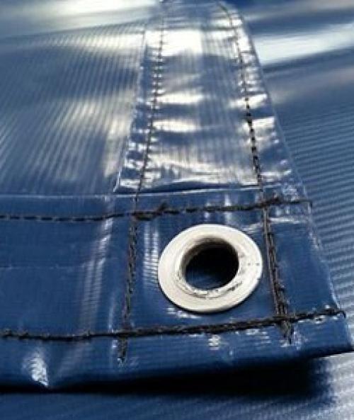 Тент ПВХ 4х6м 600 г/м2 синий