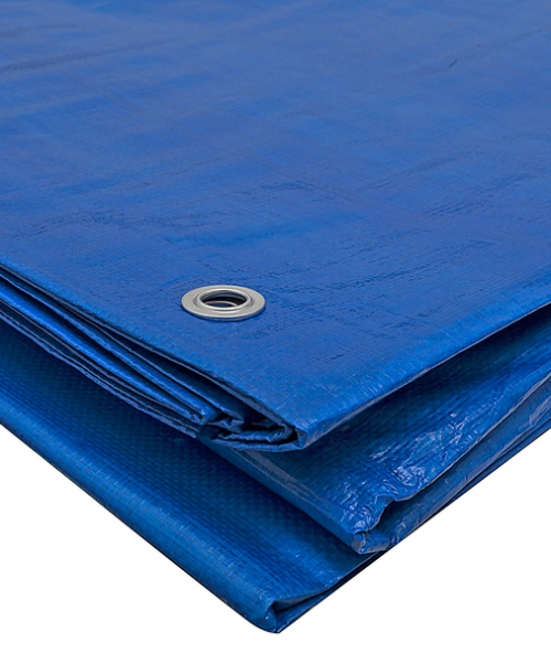 Тент полиэтиленовый утепленный 4х6м 180 г/м2 синий